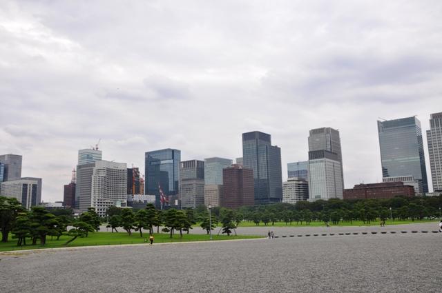 Tokijas. Imperatoriaus rūmų parkas